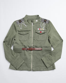 Mecca Girls - Soldier Long Sleeve Jacket (7-16)