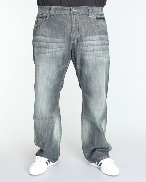 Pelle Pelle Men Medium Wash Horseshoe Denim Jeans