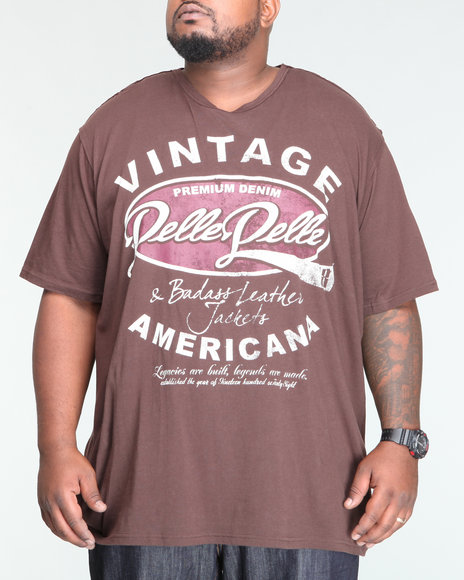 Pelle Pelle Men Brown S/S Vintage Americana Tee (B&T)