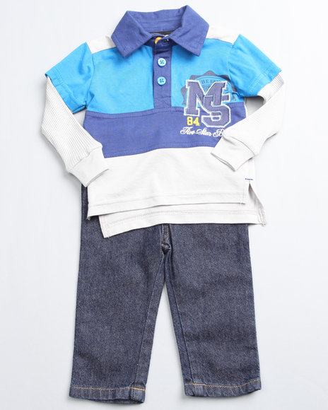 Mecca Boys Navy 2 Piece Top N Jean (Newborn)