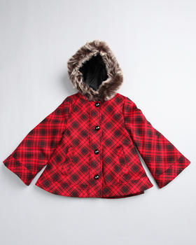 La Galleria - PLAID SWING COAT (2-6X)