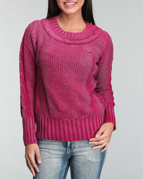 M.O.D. - Shimmer Coated Knit Sweater