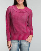 Sweaters - Shimmer Coated Knit Sweater