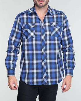 Buyers Picks - Plaid Chambray detailed L/S button down shirt