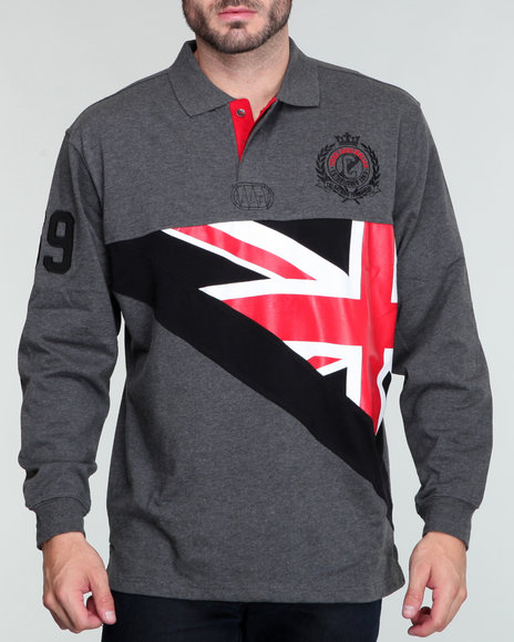 Coogi Men Grey Buffalo Ausi L/S Rugby