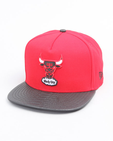 chicago bulls snake snap adjustable hat (a-frame)