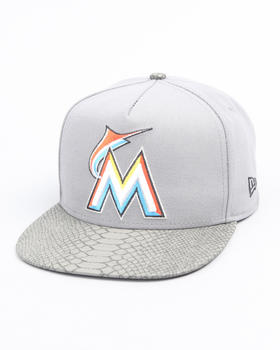 New Era - Miami Marlins Snake Snap Adjustable Hat (A-Frame)
