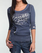 scoopneck 3/4 sleeve light weight blouse