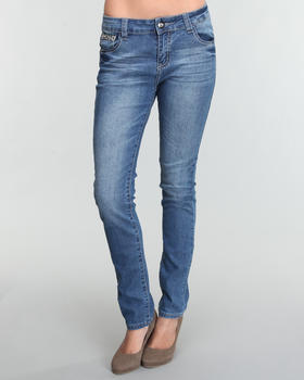 Fashion Lab - Basic Skinny jean pants w/back pocket detail