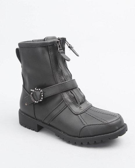 Apple Bottoms Women Black Taya Ankle Boot