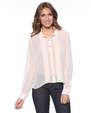 DJP OUTLET - Mixed Panel Return Blouse