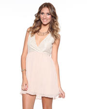 DJP OUTLET - Javier Lace and Poly Chiffon Dress