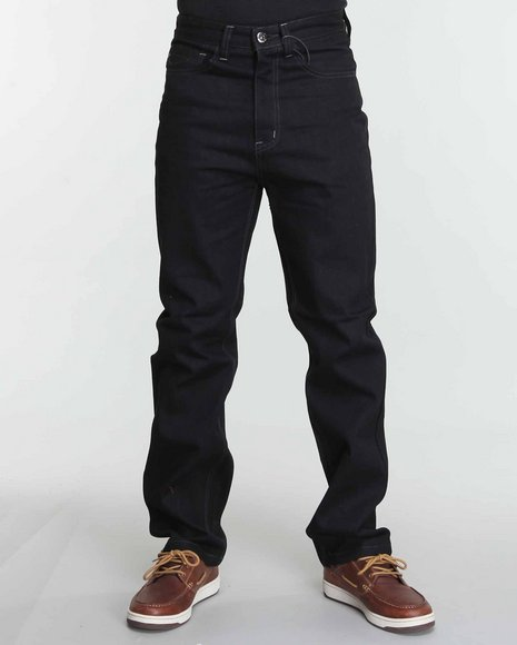 Mo7 Men Black Classico Raw Relaxed Fit Denim Jeans