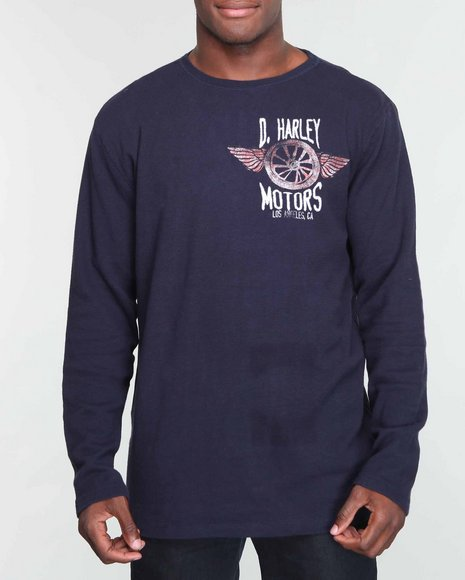 Buyers Picks Men Navy Dutch & Harley Motors Thermal
