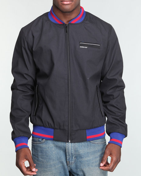 Members Only - Men Black,Blue,Red New York Team Baller Jacket (Drjays.Com Exclusive)