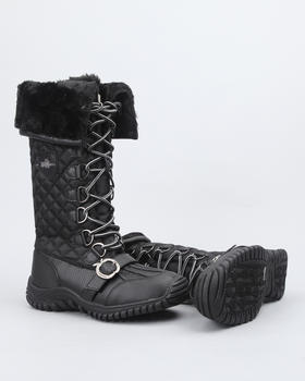 Apple Bottoms - Natalia High Quilted Fleece Lined Boot w/ Faux interior fur lining
