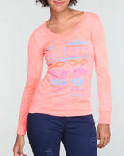Fashion Lab - Printed neon long sleeve burnout