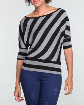 Basic Essentials - STRIPE DOLMAN TOP