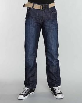 WT02 - Belted Washed Denim Jeans