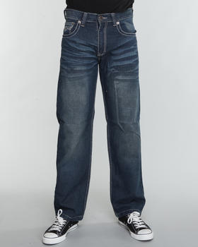 SIGMA - Sigma Premium Crinkle Flap Pocket Straight Fit Jeans