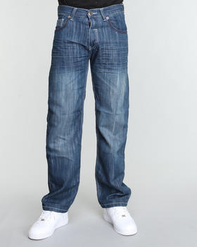 SIGMA - Sigma Premium Twill Tape Trim Straight Fit Jeans