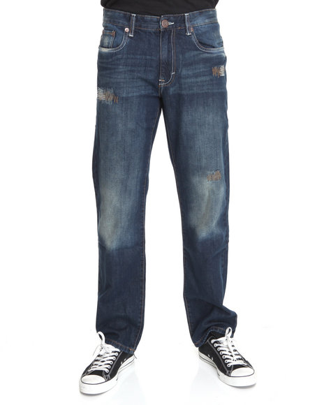 - Grant Ribbed & Repair 5 Pkt Jean