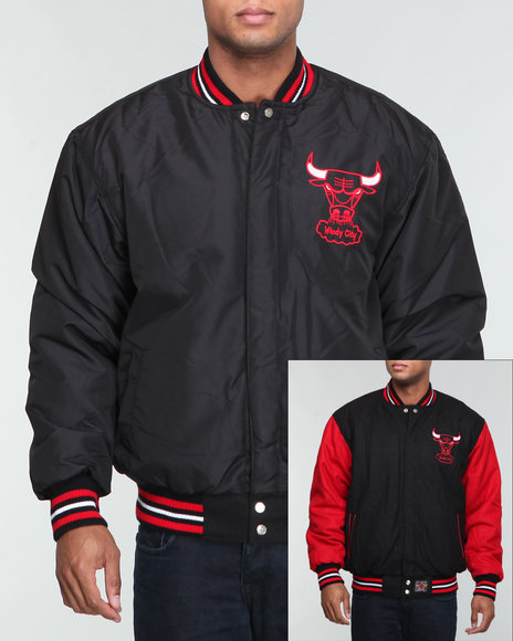chicago bulls wool two tone reversible jacket