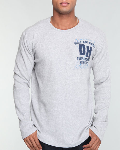 Buyers Picks Men Grey Dutch & Harley Surf School Thermal