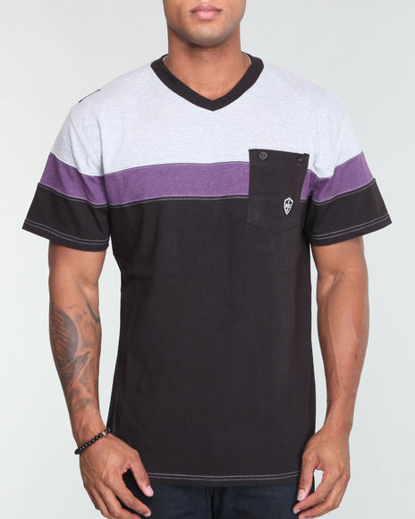 Enyce Men Black Shift V Neck Shirt