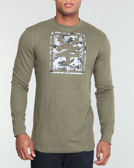 Zoo York Men Olive Z Y Camo Logo L/S Thermal