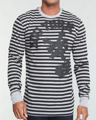 Men - Sprayed Up Striped L/S Thermal
