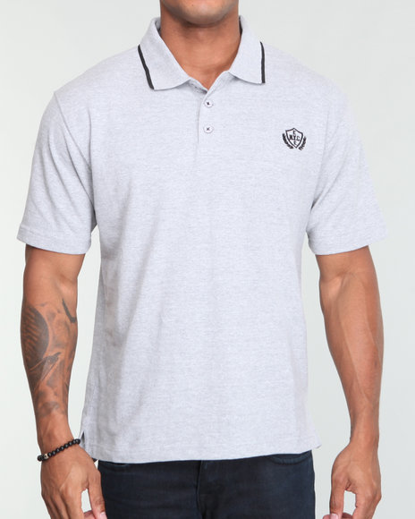 Enyce Men Light Grey Reprise Solid Polo