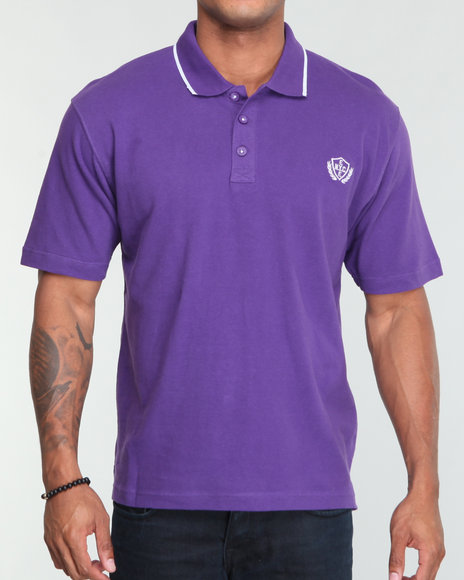 Enyce Men Purple Reprise Solid Polo