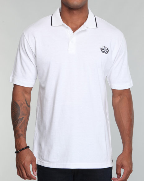 Enyce Men White Reprise Solid Polo