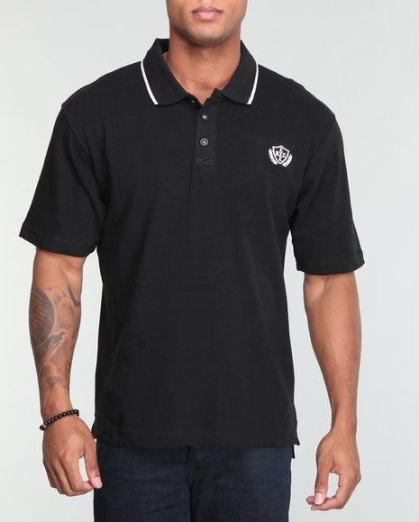 Enyce Men Black Reprise Solid Polo