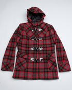 La Galleria - PLAID TOGGLE COAT (7-16)