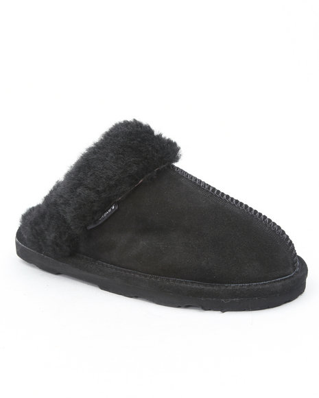 loki suede sheepskin lined slippers