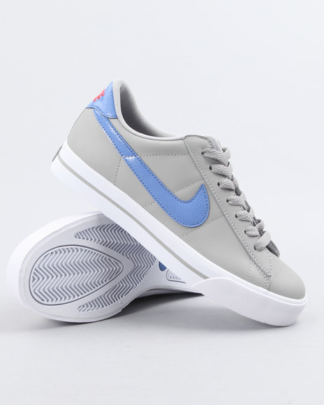 Nike Women Grey Wmns Sweet Classic Leather Sneakers