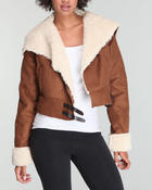 Women - Faux shearling jacket