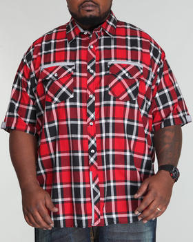 Basic Essentials - Plaid Woven Short Sleeve Woven Shirt  (B&T)