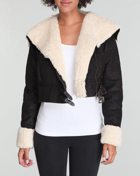 Basic Essentials - Faux shearling jacket