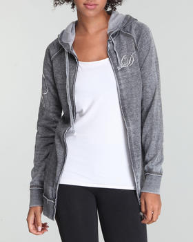 Fashion Lab - Burnout Active Hoodie