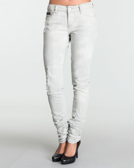 Rocawear Women Grey Dreaming Of You Rips Skinny Jean