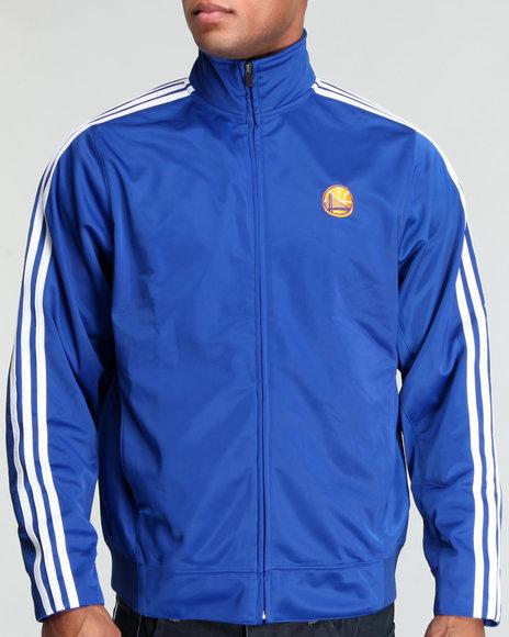 Adidas Men Blue Golden State Warriors Track Jacket