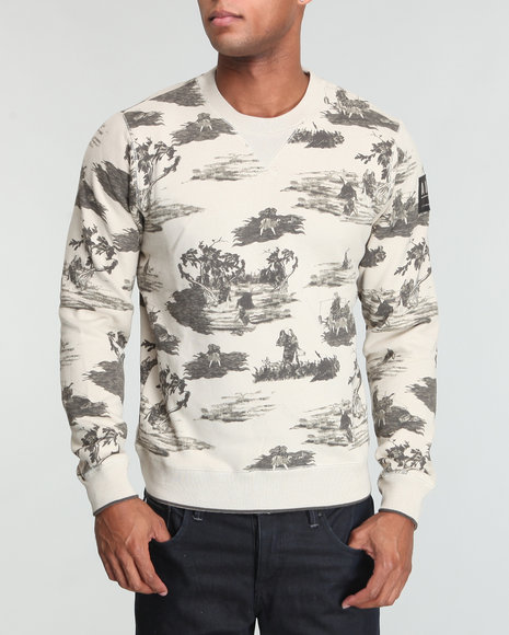 Akoo Men Vivid Fleece Crew Sweatshirt - Sweatshirts & Sweaters