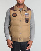 Cold Weather- MEN - Solid vest w/ suede yoke