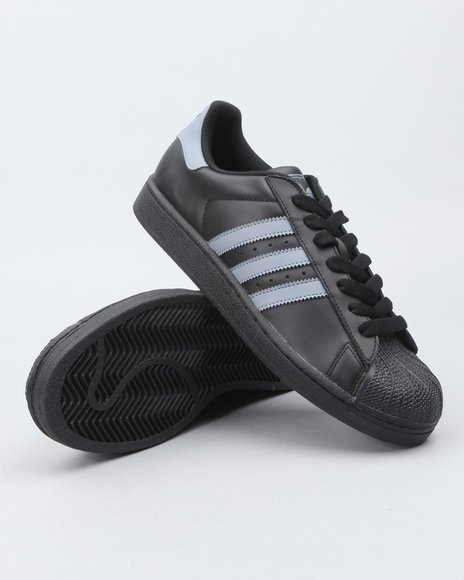 Adidas Men Black Superstar 2 Sneakers
