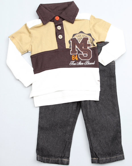 Mecca Boys Brown 2 Piece Top N Jean (Newborn)
