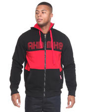 Men - Coach Color Blocked Fleece Full Zip Jacket