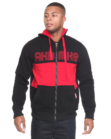 - Coach Color Blocked Fleece Full Zip Jacket